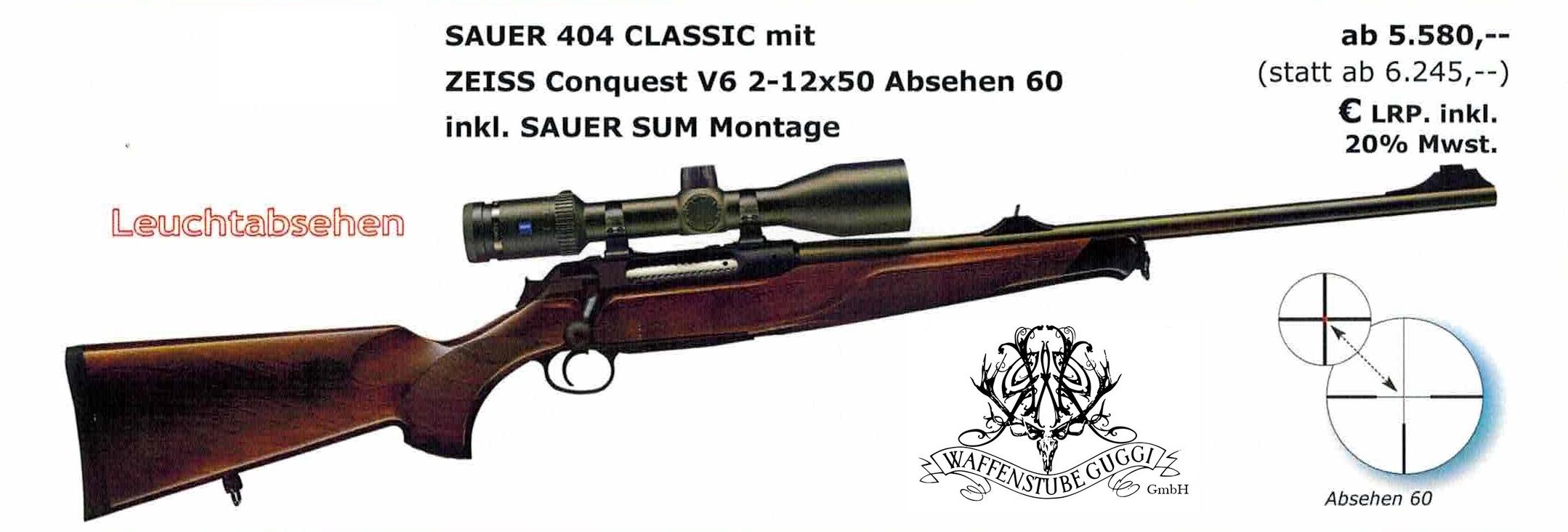 Sauer 404 Classic mit Zeiss Qonquest V6